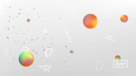 Breezy space fantasy. Background texture, bright. Elementary colorific illustration.  White neutral background.  Pristine colorful new abstraction. Colorful universe new texture light.