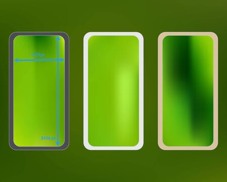 Mesh, green colored phone backgrounds kit.