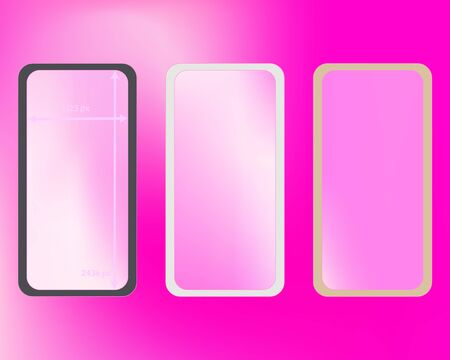 Mesh, pink colored phone backgrounds kit.