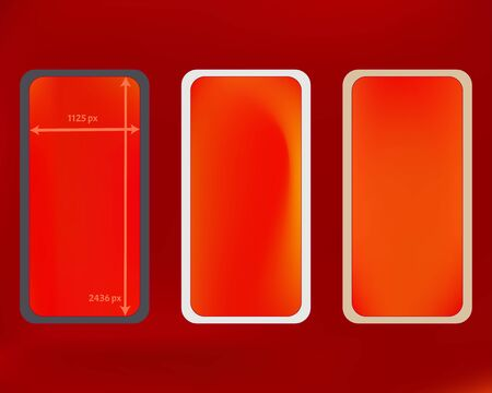 Mesh, red colored phone backgrounds kit. Common backdrop. Stock Illustratie