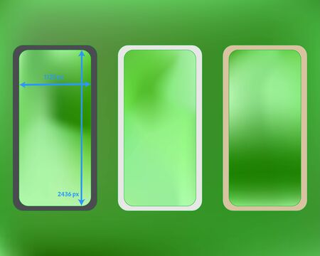 Mesh, lime colored phone backgrounds kit. Useful screen design set, isolated background. Elementary backdrop. Net separated groups, easy to edit. 2436x1125 ratio.