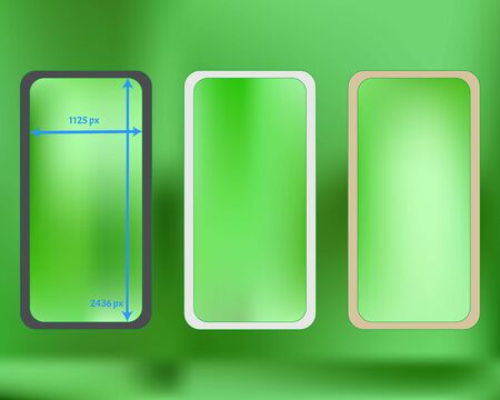 Mesh, lime colored phone backgrounds kit. Useful backdrop. Creative screen design set, isolated background. Breezy separated groups, easy to edit. 2436x1125 ratio.