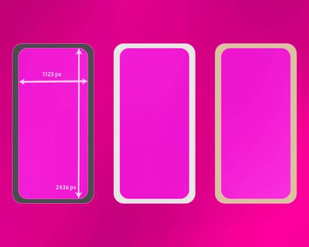 Mesh, pink colored phone backgrounds kit. Funny backdrop. Usefull screen design set, isolated background. Pure separated groups, easy to edit. 2436x1125 ratio.