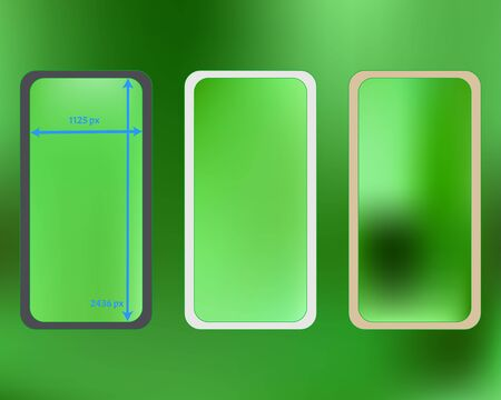 Mesh, lime colored phone backgrounds kit. Breezy separated groups, easy to edit. Creative backdrop. Liquid screen design set, isolated background. 2436x1125 ratio.