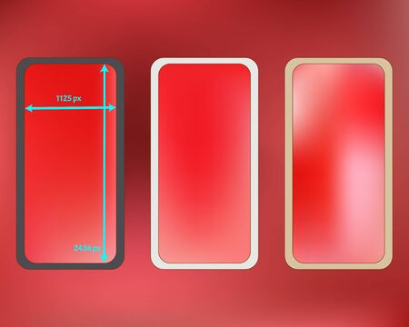 Mesh, coral colored phone backgrounds kit. Funny screen design set, isolated background. Pristine separated groups, easy to edit. Ordinary backdrop. 2436x1125 ratio.