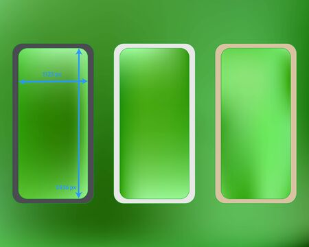 Mesh, lime colored phone backgrounds kit. Plain screen design set, isolated background. New separated groups, easy to edit. Minimal backdrop. 2436x1125 ratio.