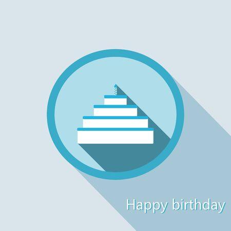 septic: Happy birthday blue cake card