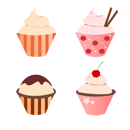 cupcakes isolated: Cupcake cute September
