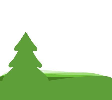 albero pino: Background pine tree green Vettoriali