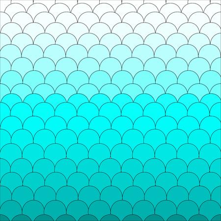 escamas de peces: Escamas de pescado azul lindo del fondo del modelo Vectores