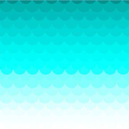 escamas de peces: Las escalas de pescados de fondo de color azul Vectores