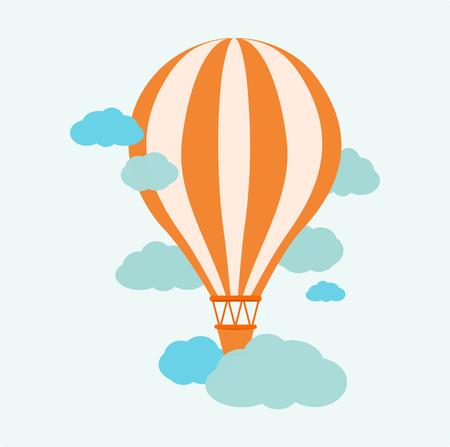 cloud drift: Hot Air Balloon in the sky