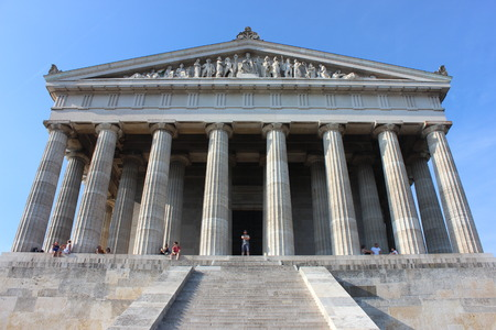 beethoven: Walhalla Valhalla memorial exterior in Regensburg, Germany Stock Photo