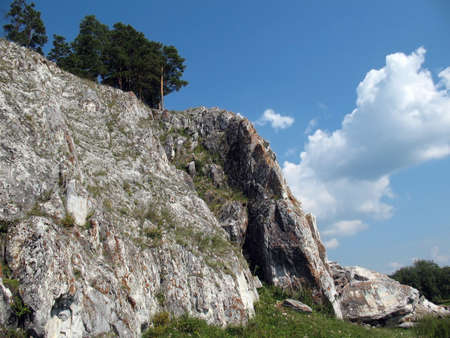 impasse: Mountain cliff in Urals mountains.