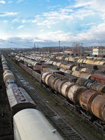 Cargo on a big station. photo