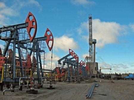 Boren in West-Siberië. Olie.