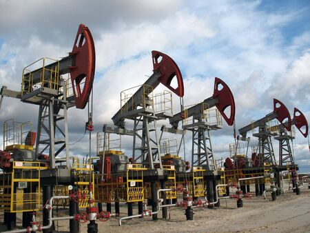 Oil extraction in west Siberia. Stock Photo