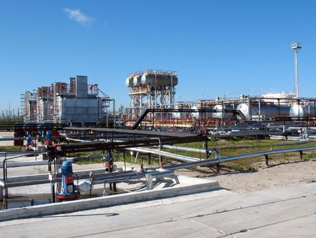 Refinery center in West Siberia.