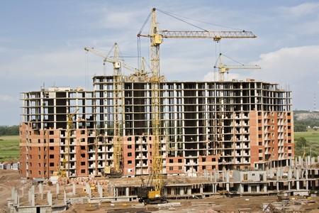 Crane on a building area