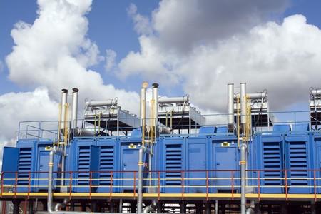 Industriële bouw. Werk van de elektriciteitscentrale