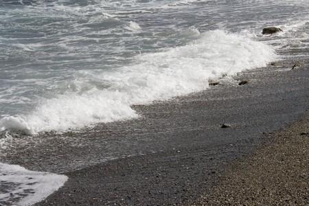 falling tide: Walk on wild deserted coast