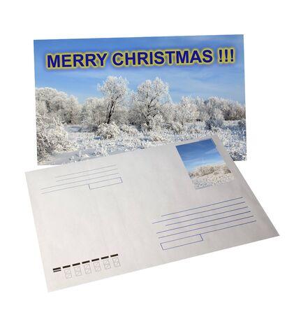 Receive of Christmas postcard . Merry Christmas !