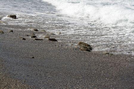 falling tide: Walk on a sea coast
