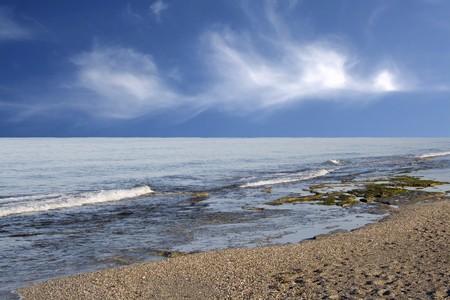 falling tide: Rising tide on a coast