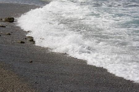 falling tide: Walk on a wild sea coast