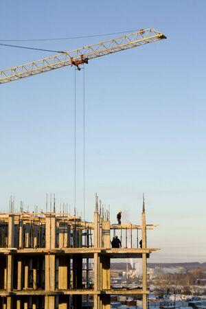 La construcci�n de la zona. Negocios en la industria Foto de archivo - 4621067
