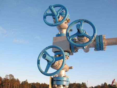 Industriële bouw en mechanisme. Werk van de olie-industrie.
