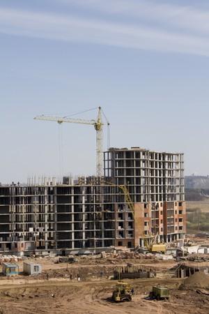 residental: Construction of the residental house Stock Photo