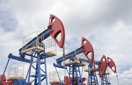 oil and gas industry: Oil pump jack. Oil and gas industry. Oil field