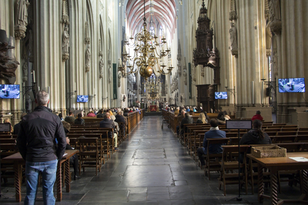 Saint John's Cathedral. Sint Janskathedraal. Netherlands, Hertogenbosch, also known as Den Bosch. The Gothic church.