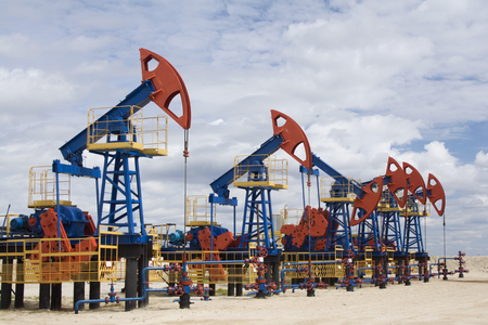 Oil and gas industry. Oil pumps