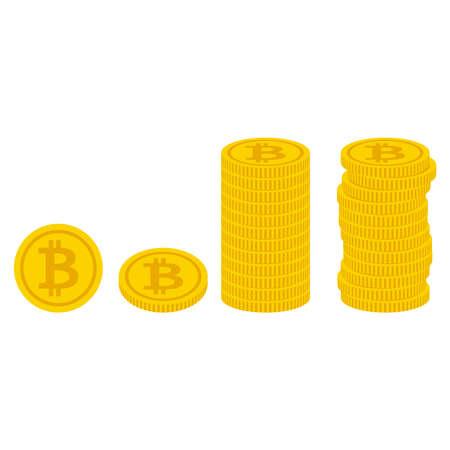 Bitcoin material illustration clip art