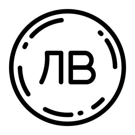 Bulgarian lev coin icon vector illustration