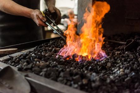 blacksmiths fire at the blacksmith