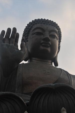 future buddha: Hong Kong Tian Tan Buddha Stock Photo