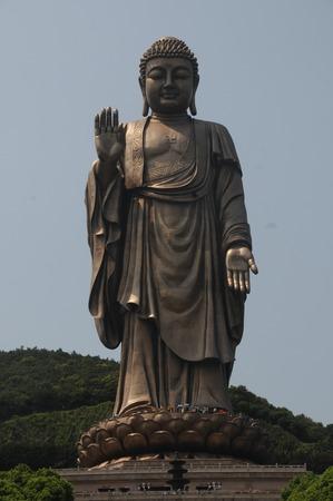 future buddha: Lingshan Buddha Stock Photo