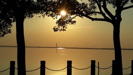 reflection water: Acqua riflessione tramonto Archivio Fotografico