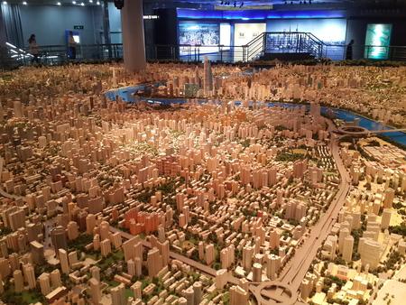the exhibition hall: Shanghai urban planning Exhibition Hall