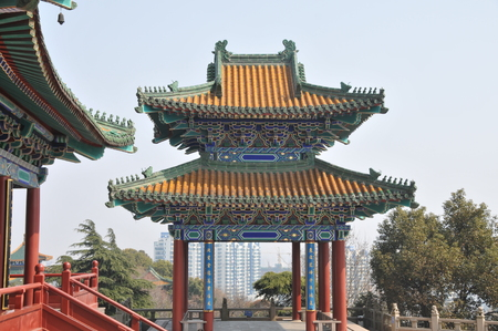 lou: Nanjing yuejiang Lou scenic area Stock Photo