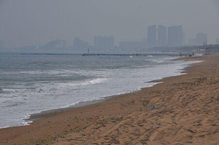 wan: Sunshine Wan Ping scenic spot Stock Photo