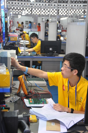 the world expo: 44th World Skills Competition at Shanghai World Expo exhibition hal