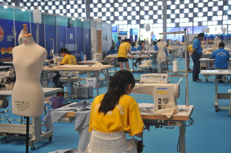 the world expo: 2016 The forty-fourth World skills Competition at Shanghai World Expo exhibition hall