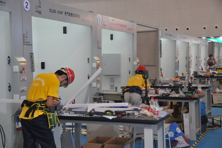 the world expo: The forty-fourth World skills Competition at Shanghai World Expo exhibition hall Editorial