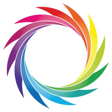 chromatique: Round roue de couleur de p�tales, roue de couleur avec un gradient
