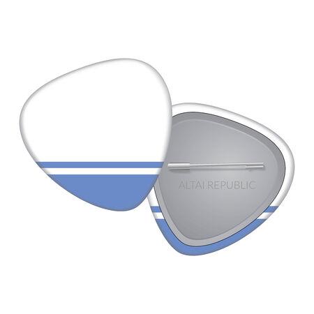 altai: Vector Flag Badge Series - Altai Republic Illustration