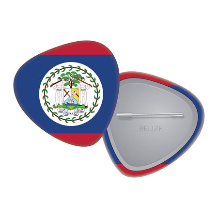 Vector Flag Badge Series - Belize Vector